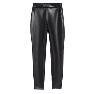 Leith Faux Leather High Waisted Leggings